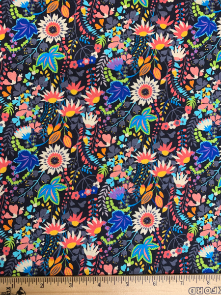 Flower Bed quilting fabric