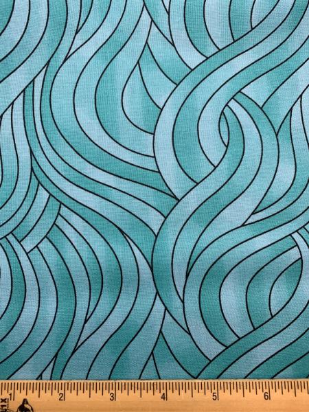 Swirls quilting fabric